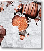 Abstract World Map - Chocolates - Confections - Candy Shop Metal Print