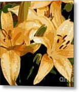 Abstract Yellow Asiatic Lily - 1 Metal Print