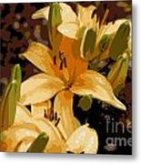 Abstract Yellow Asiatic Lily - 2 Metal Print