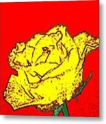 Abstract Yellow Rose Metal Print