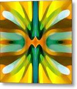 Abstract Yellowtree Symmetry Metal Print by Amy Vangsgard