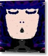 Abstracted Lady Metal Print by Caroline Gilmore
