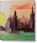 Abstracted Ny Skyline Metal Print