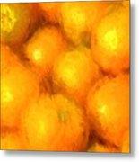 Abstracted Oranges Metal Print