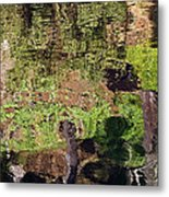 Abstracted Reflection Metal Print