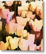 Abstracted Tulips Metal Print