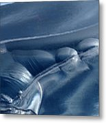 Abstraction In Blue Metal Print
