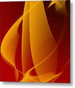 Abstraction In Yellow Metal Print