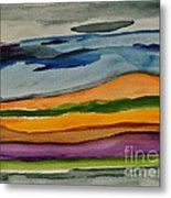 Abstractscape Metal Print by Marsha Heiken
