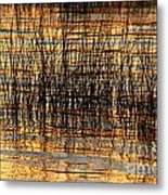 Abstract Reed And Water Patterns Metal Print