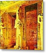 Abu Simbel Hypostyle Hall Metal Print