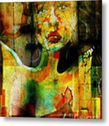 Abused And Stained Metal Print