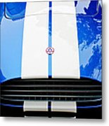 Ac Shelby Cobra Grille - Hood Emblem Metal Print