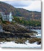 Acadia Seaside Mansion Metal Print