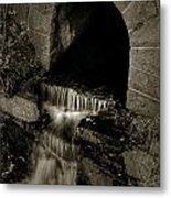 Acadia Waterfall Metal Print