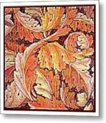 Acanthus Vine Design Metal Print by William Morris
