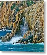 Acapulco Cliffs Metal Print