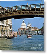 Accademia Bridge In Venice Italy Metal Print