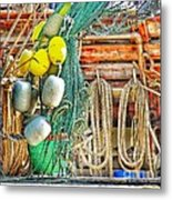 Accessories To Shrimp Catching Metal Print