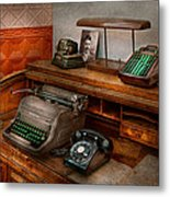 Accountant - Typewriter - The Accountants Office Metal Print