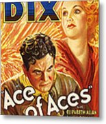 Ace Of Aces, Us Poster Art, From Left Metal Print