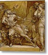 Achilles And Briseis Metal Print