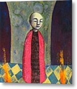 Acolyte With Fire Pots Metal Print