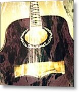 Acoustic Guitar - In The Studio Metal Print