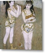 Acrobats At The Cirque Fernand Metal Print by Pierre Auguste Renoir