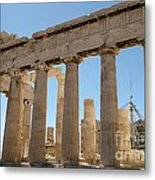 Acropol Of Athens Metal Print