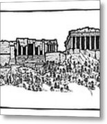 Acropolis Of Athens Metal Print by Calvin Durham