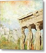 Acropolis Of Athens Metal Print by Catf