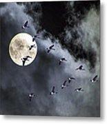 Across A Harvest Moon Metal Print