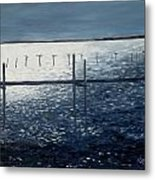 Across The Bay At Night Metal Print
