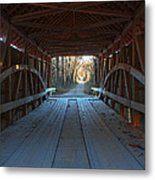 Across The Bridge And Through The Woods Metal Print