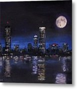 Across The Charles At Night Metal Print by Jack Skinner