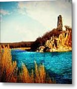 Across The Ocean And Through The Deep Blue Sea Metal Print