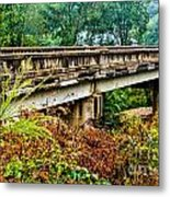Across The Old Bridge Metal Print