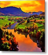 Across The Valley Metal Print