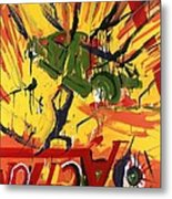 Action Abstraction No. 1 Metal Print