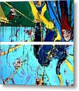 Action Abstraction No. 21 Metal Print