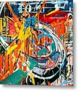 Action Abstraction No. 7 Metal Print