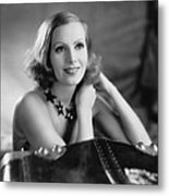 Actress Greta Garbo Metal Print