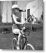 Actress Plays Bike Polo Metal Print