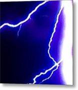 Actual Lightning In Zoom Image Metal Print