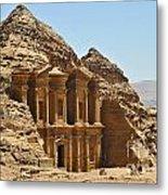 Ad Deir In Petra Metal Print