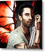 Adam Dragon Warrior Metal Print