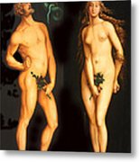 Adam Eve And The Serpent Metal Print