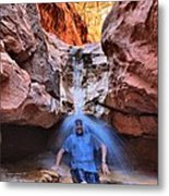 Adam Jewell At Capitol Reef Shower And Laundromat Metal Print by Adam Jewell