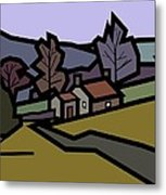 Adam's Farm Metal Print by Kenneth North